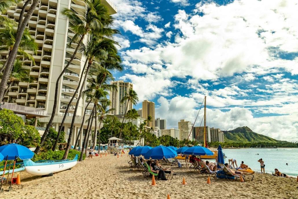 Waikiki Beach and Diamond Head at Outrigger Honolulu Oahu