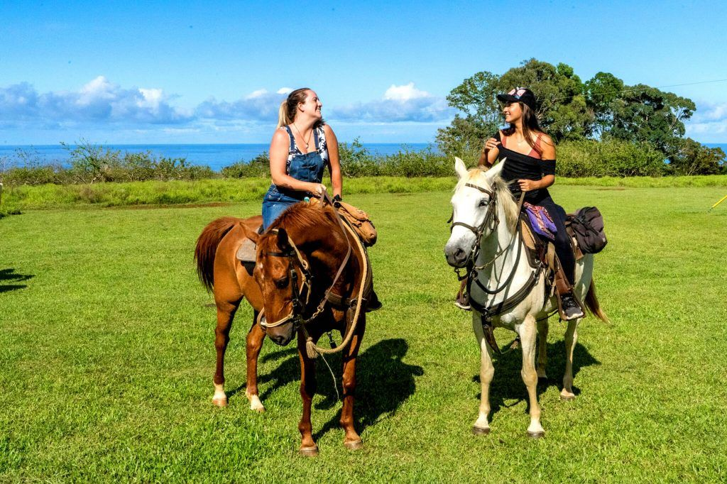 wailea horseback adventure two girls