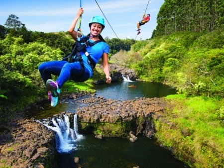 Big Island Zipline Over Umauma Waterfalls