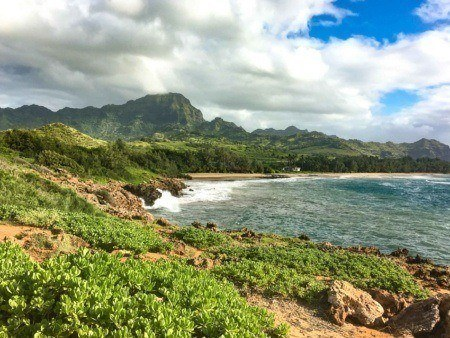 Coastal Hiking Trail near Mahaulepu Beach South side Kauai shutterstock
