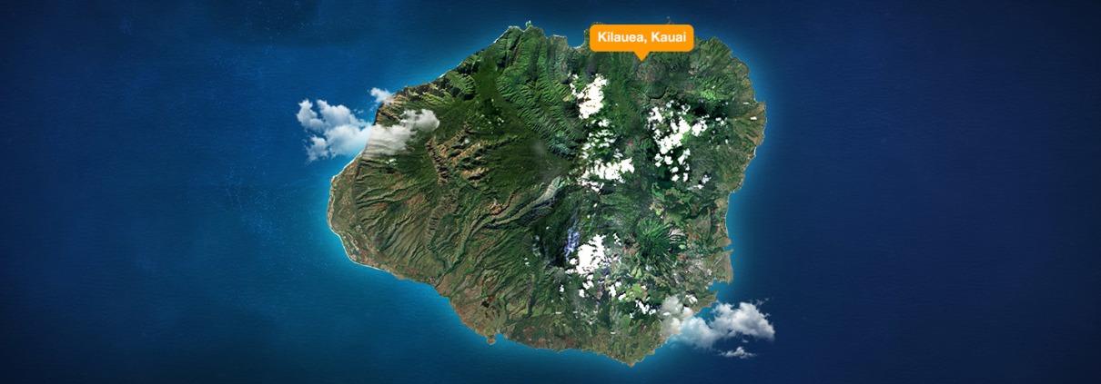 Kilauea Kauai Map