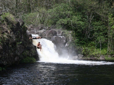 Two Man Jump In The Umauma River