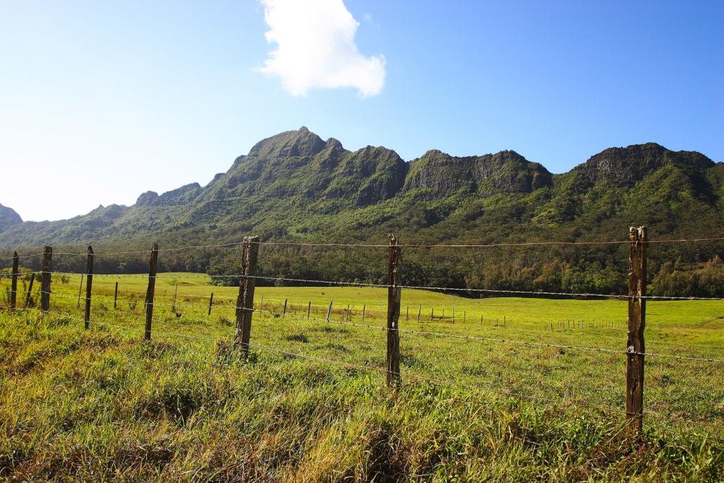 Mt.Haupu Views with Blue Sky