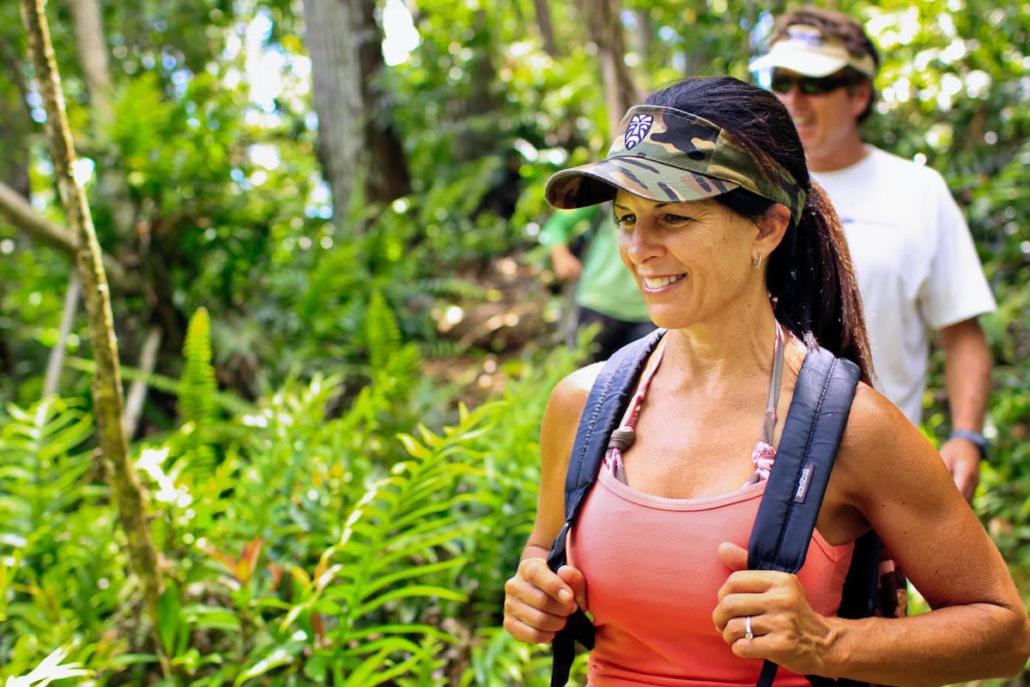 Hiking Water Falls Princeville Ranch Kauai