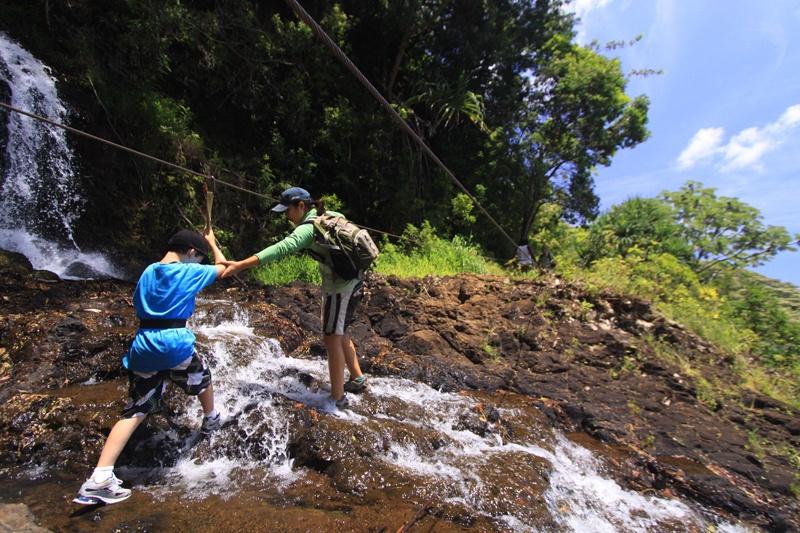 Hiking Waterfalls Princeville Ranch Kauai