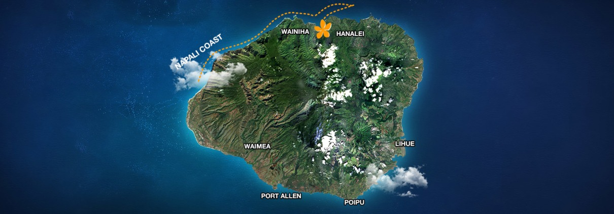 Napali Exploration and Snorkel Map
