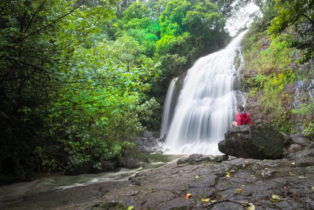 View Waterfall In Princeville Ranch Kauai