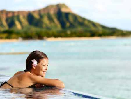 Woman Swimming Relaxing
