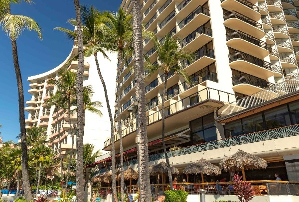 Outrigger Waikiki Hotel View From Beach