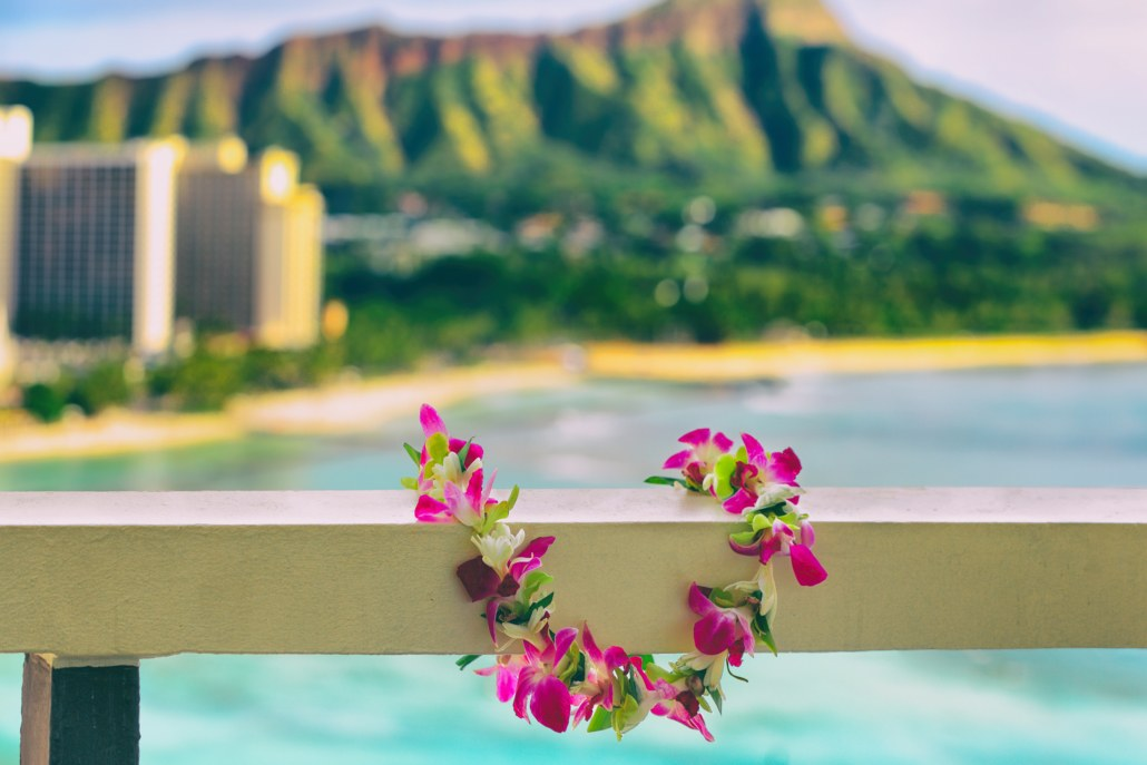 Lei Greeting in Oahu