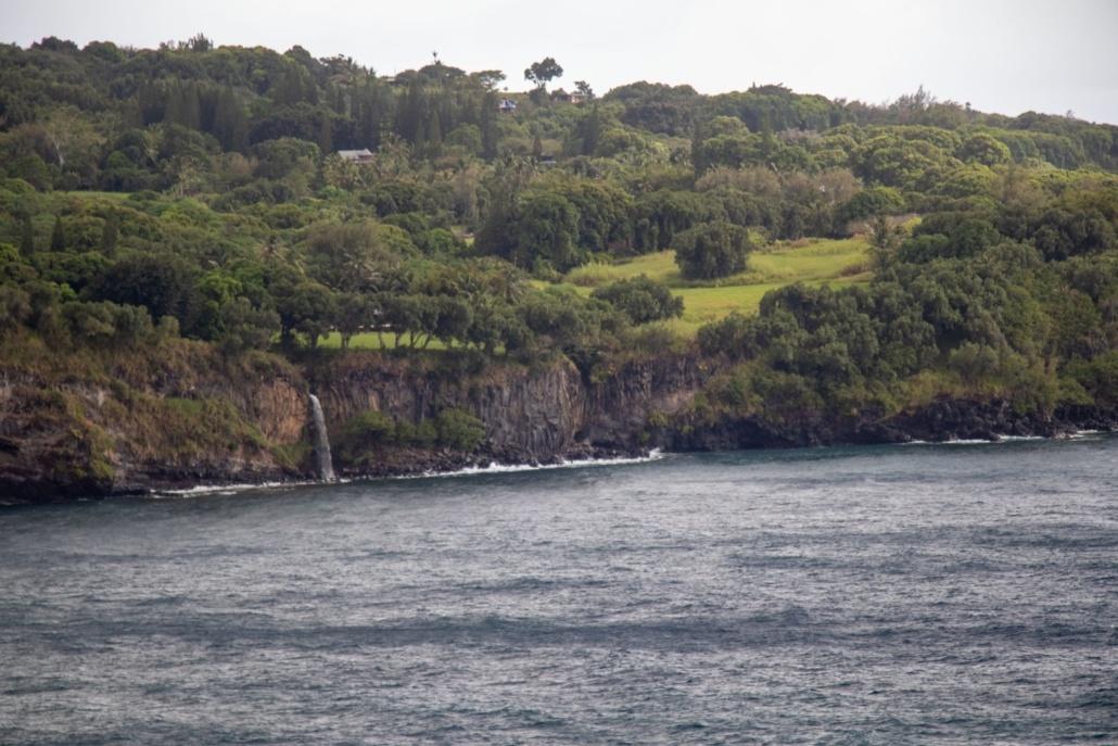 Maui Ocean Waterfall