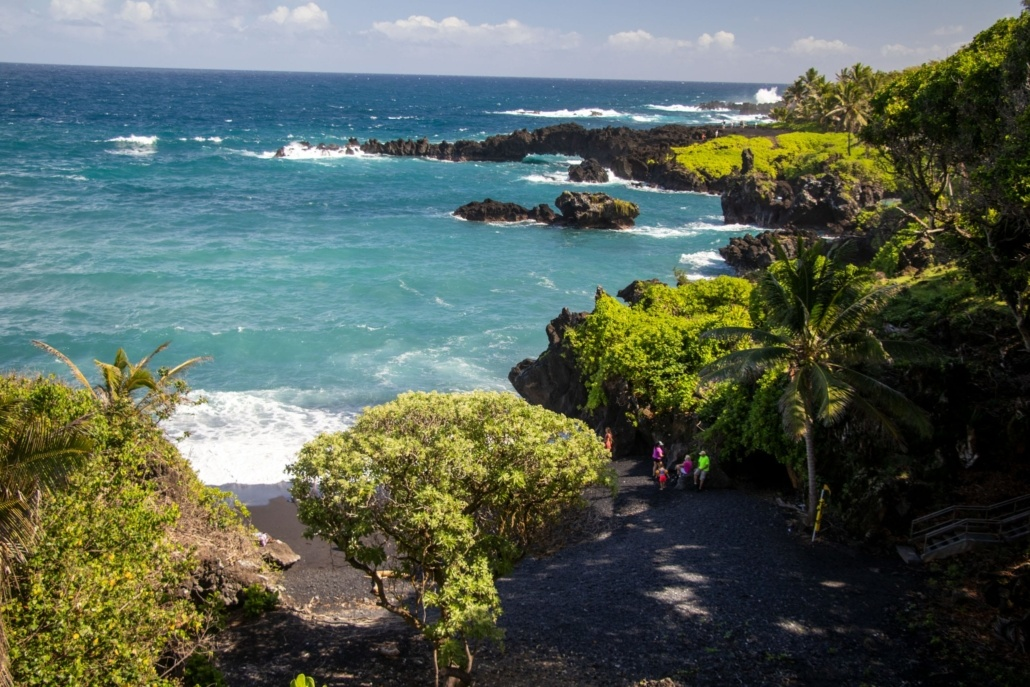 Waianapanapa Bay Beach Coastline