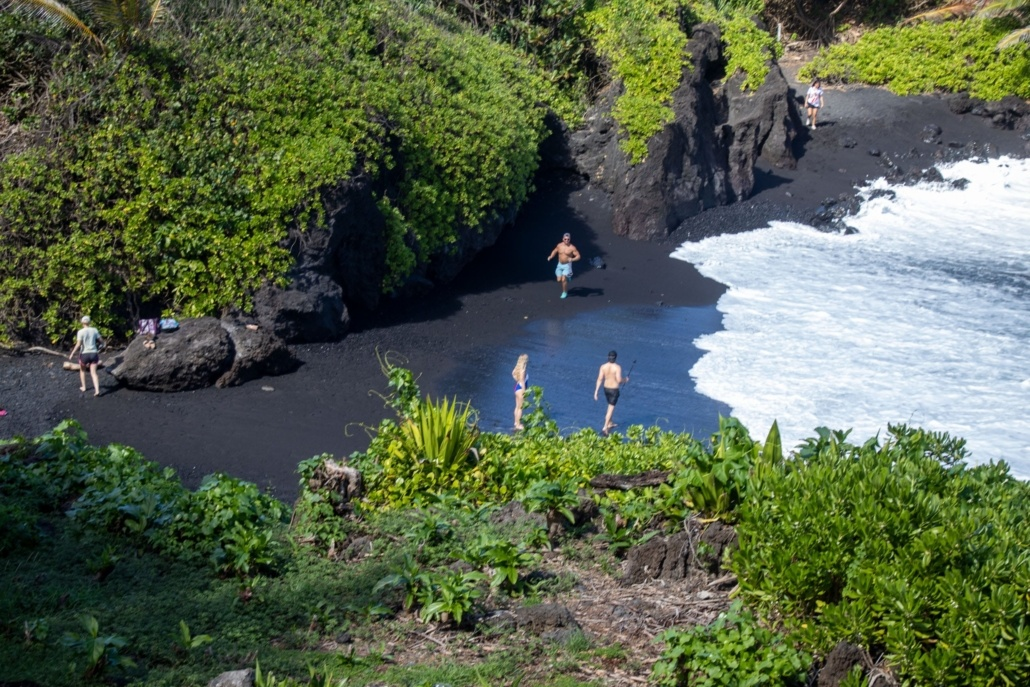 Black Sand Beach At Hana