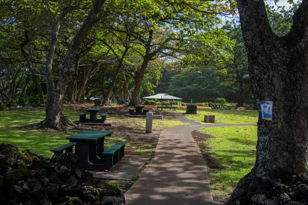 Waianapanapa Park Restrooms & Picnic Areas