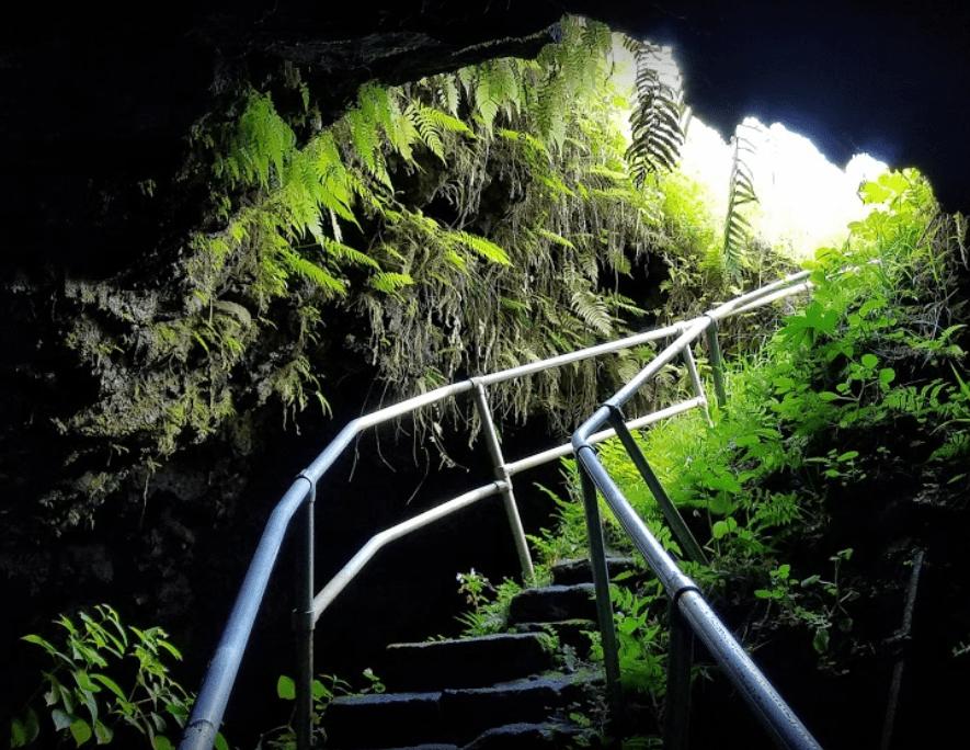Hana Cave Stairs