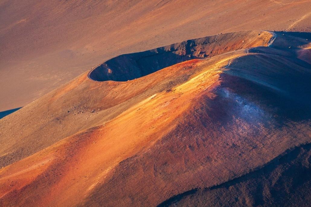 Haleakala Summit Hike Aerial