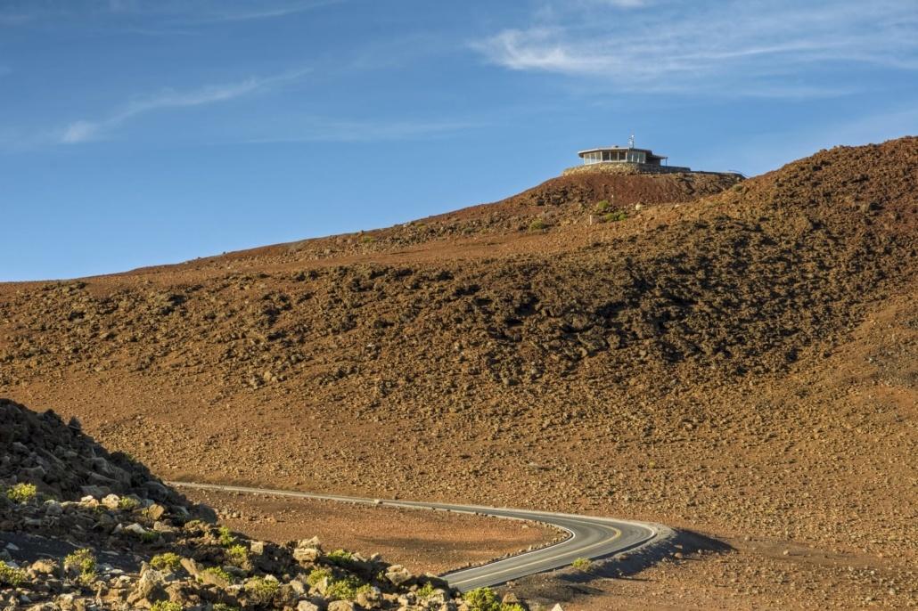 winding road to haleakala