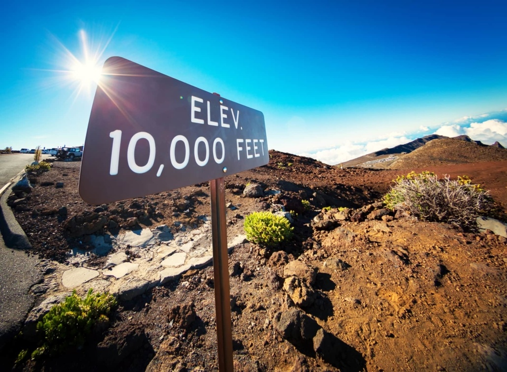 Haleakala Summit Hike Sign