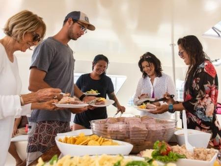 Enjoy Lunch at Turtle Snorkel Sail Tour