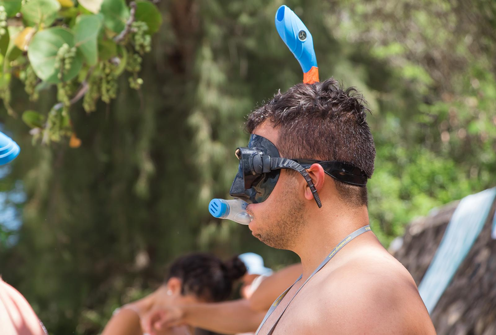 Men Snorkeling in Mask