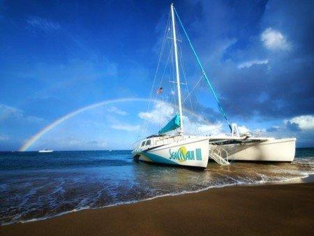 Sea Maui Boat Rainbow