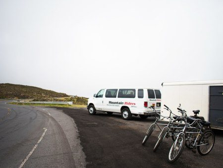 Bikes at Moutain Riders Maui Hawaii Tours