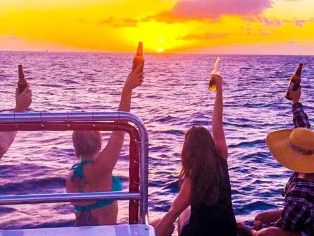 Hawaii Glass Bottom Boats Sunset Cruise off of Waikiki