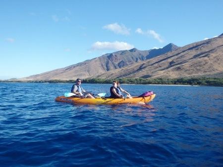 Couple at Large Group Makena Kayak Tours