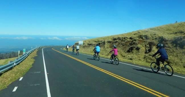 Mountain Riders Group of People at Haleakala Self Guided Bike Tour