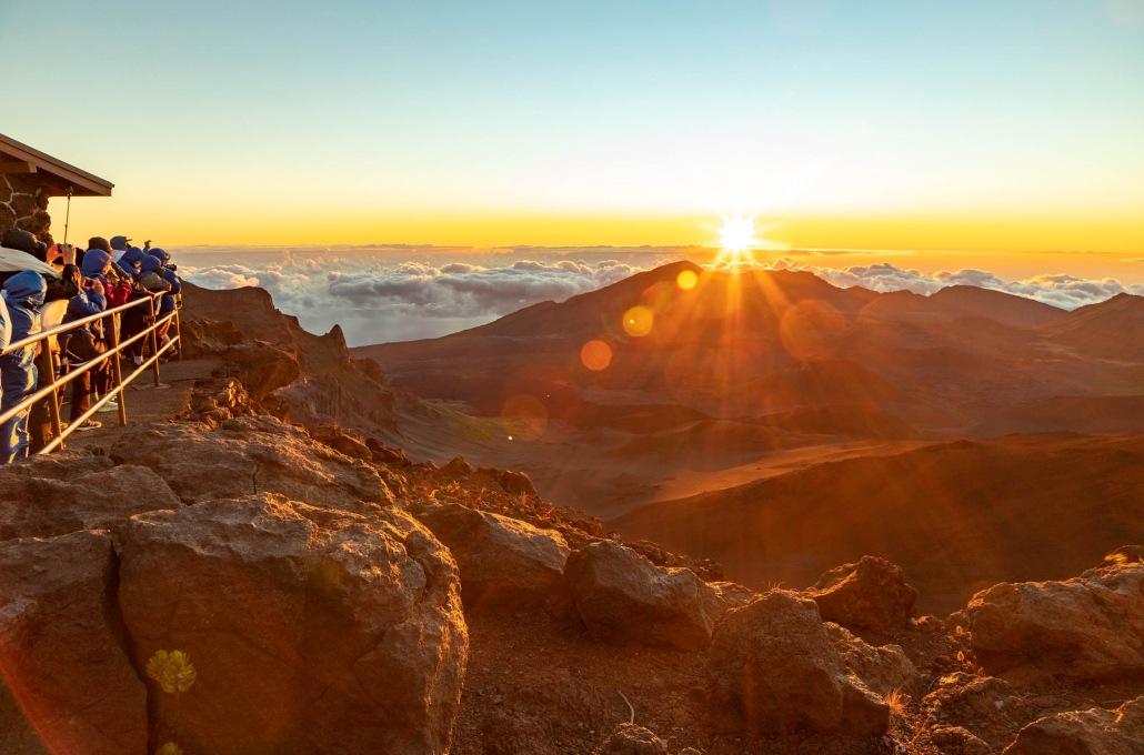 Haleakala Sunrise Visitors Maui