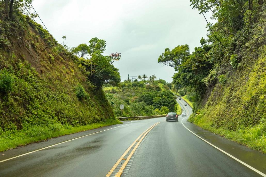 Hana Highway at Haiku Maui
