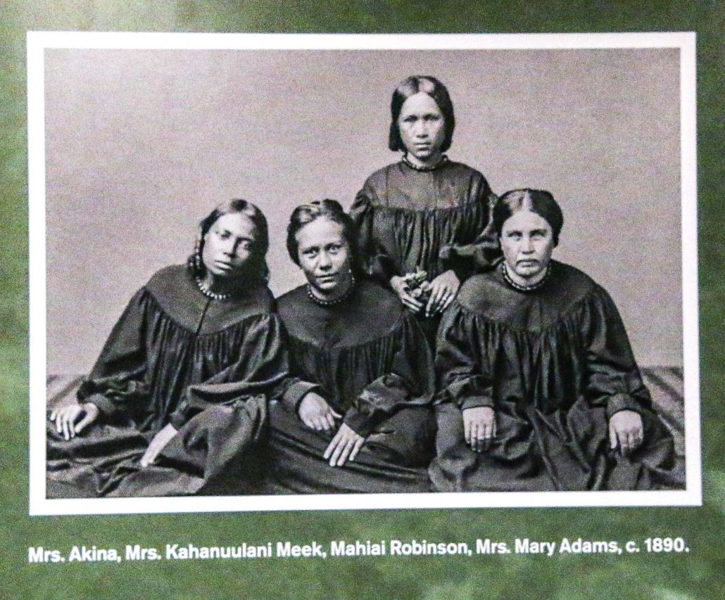 Hawaiian History Portrait of Women in 1890 Hawaii