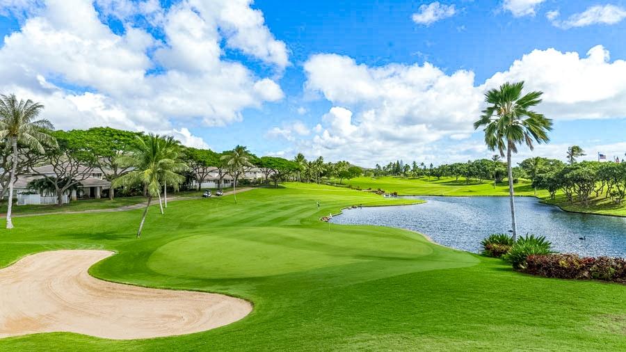 Ko Olina Golf Club Green and Bunker Oahu