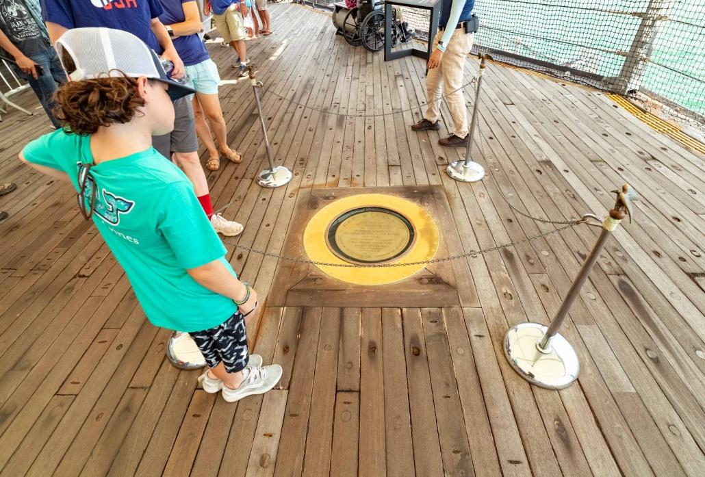 USS Missouri Spot of Surrender Plaque Pearl Harbor Oahu