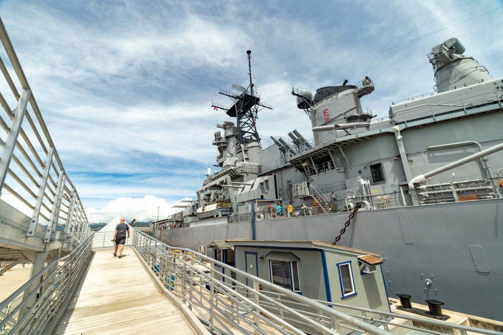 USS Missouri Visitor and Gangway Entrance Pearl Harbor Oahu